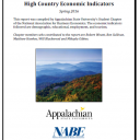 Front page of High Country Economic Indicators Final Report