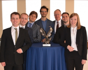 Students with College Fed. Challenge district trophy